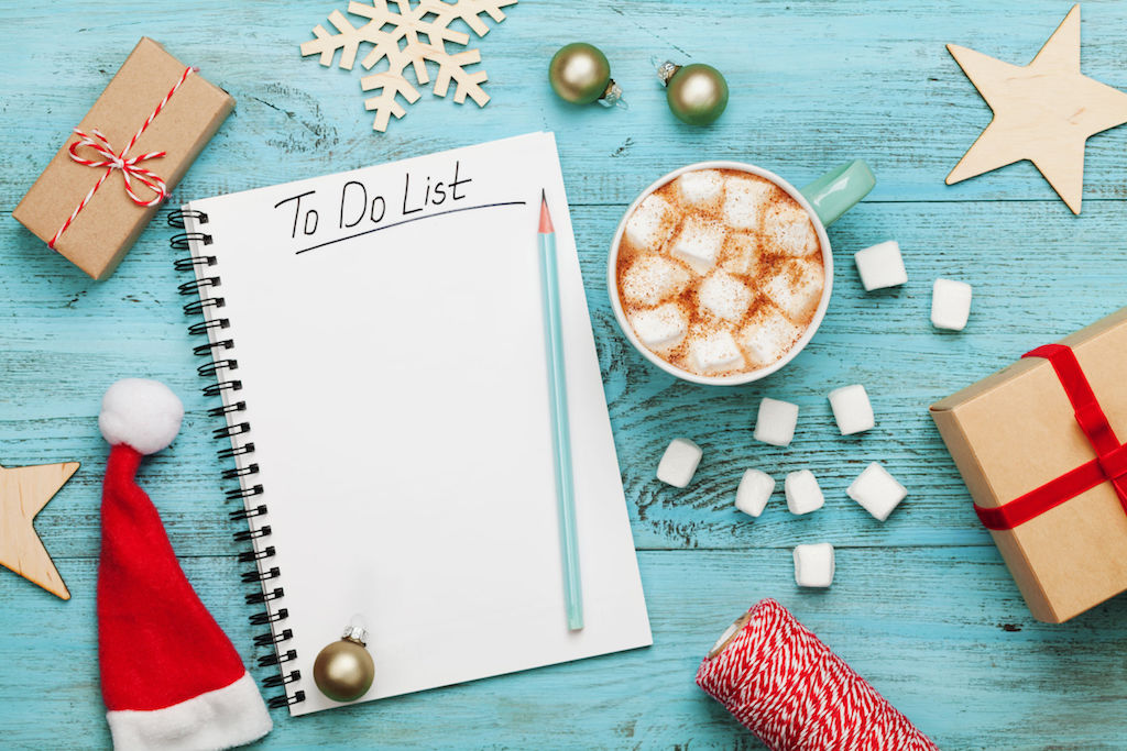 Start the holiday season off right by creating a to-do list to proactively outline everything you can think of during your guests' stay. credit:Julia Sudnitskaya 123rf com