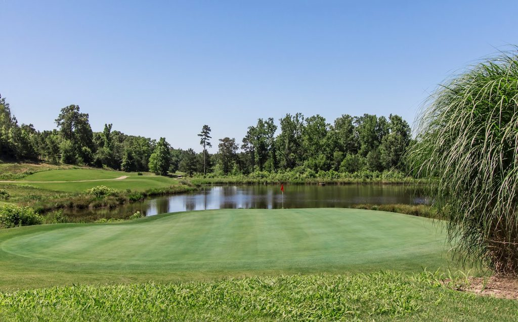 The golf course is the centerpiece of the beautiful Traditions of Braselton community. credit: Paran Homes