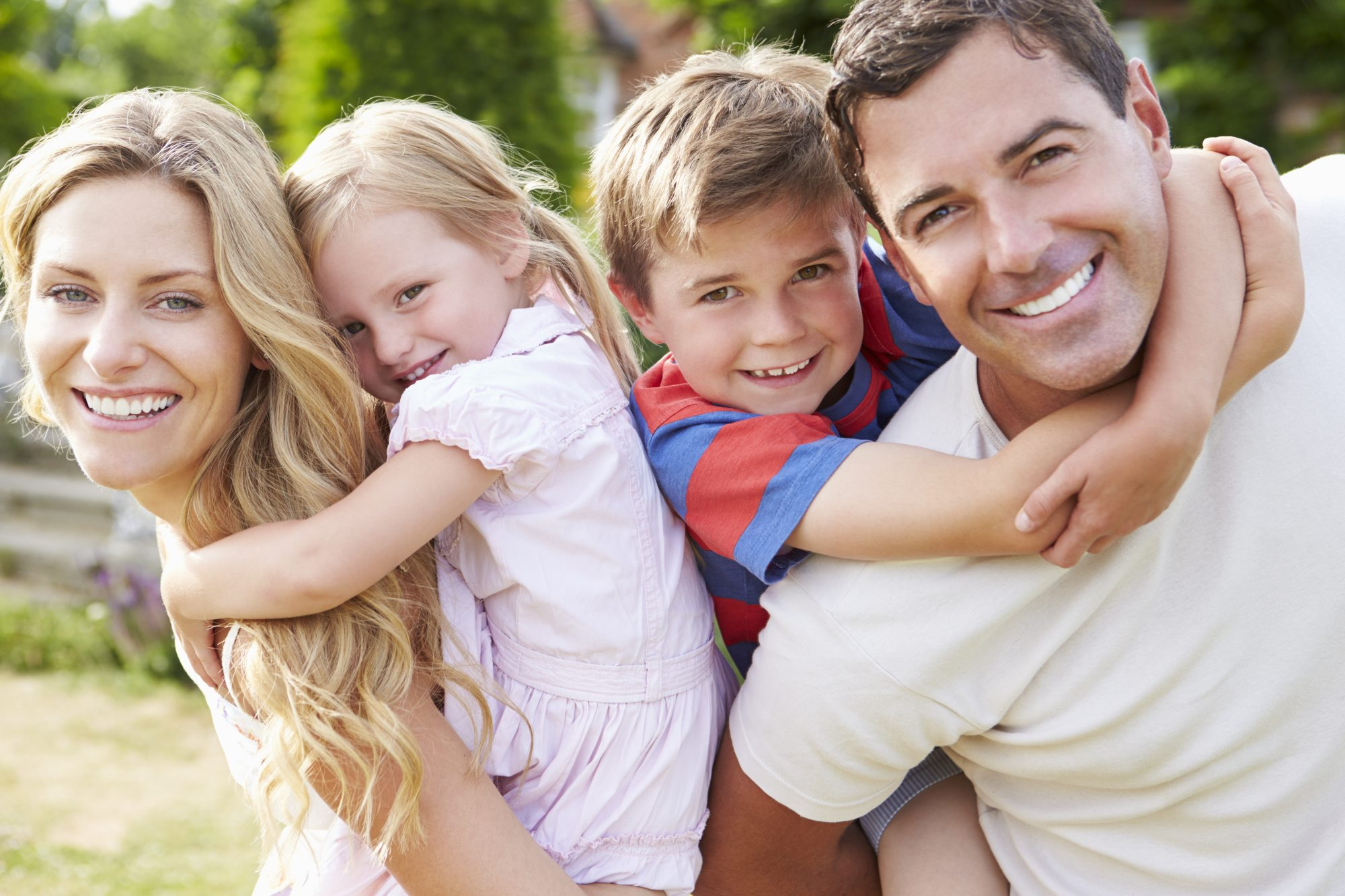 Happy family in Braselton GA - One of the safest cities in State